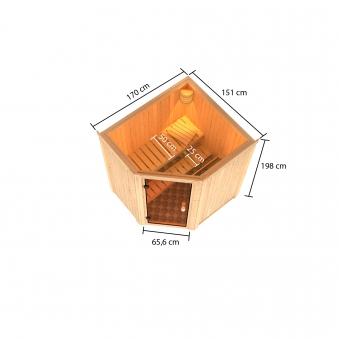 Woodfeeling Sauna Faurin 68mm Saunaofen 9kW intern Bild 2