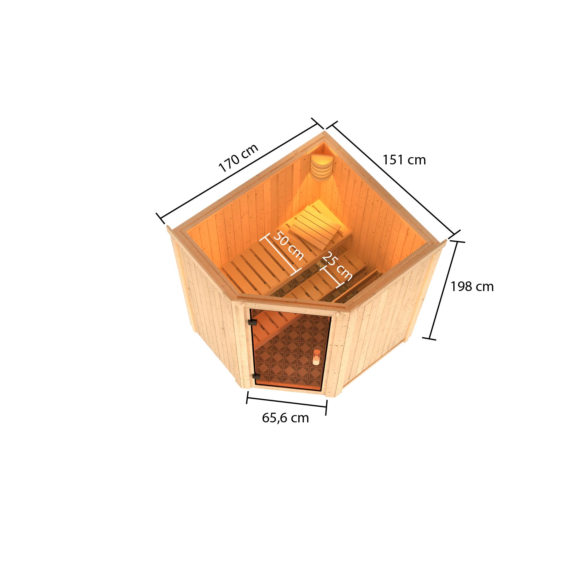 Woodfeeling Sauna Faurin 68mm ohne Saunaofen Bild 4