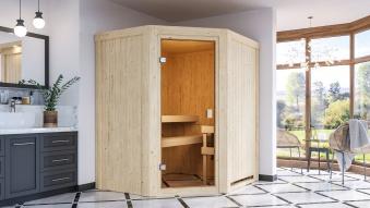 Woodfeeling Sauna Faurin 68mm ohne Saunaofen Bild 6