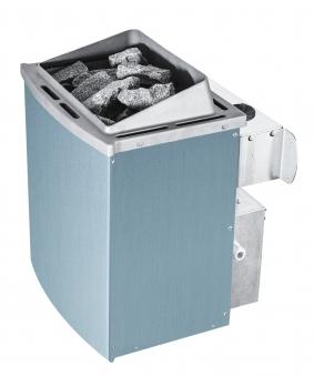 Woodfeeling Sauna Jada 38mm Dachkranz Saunaofen 9 kW intern Bild 9