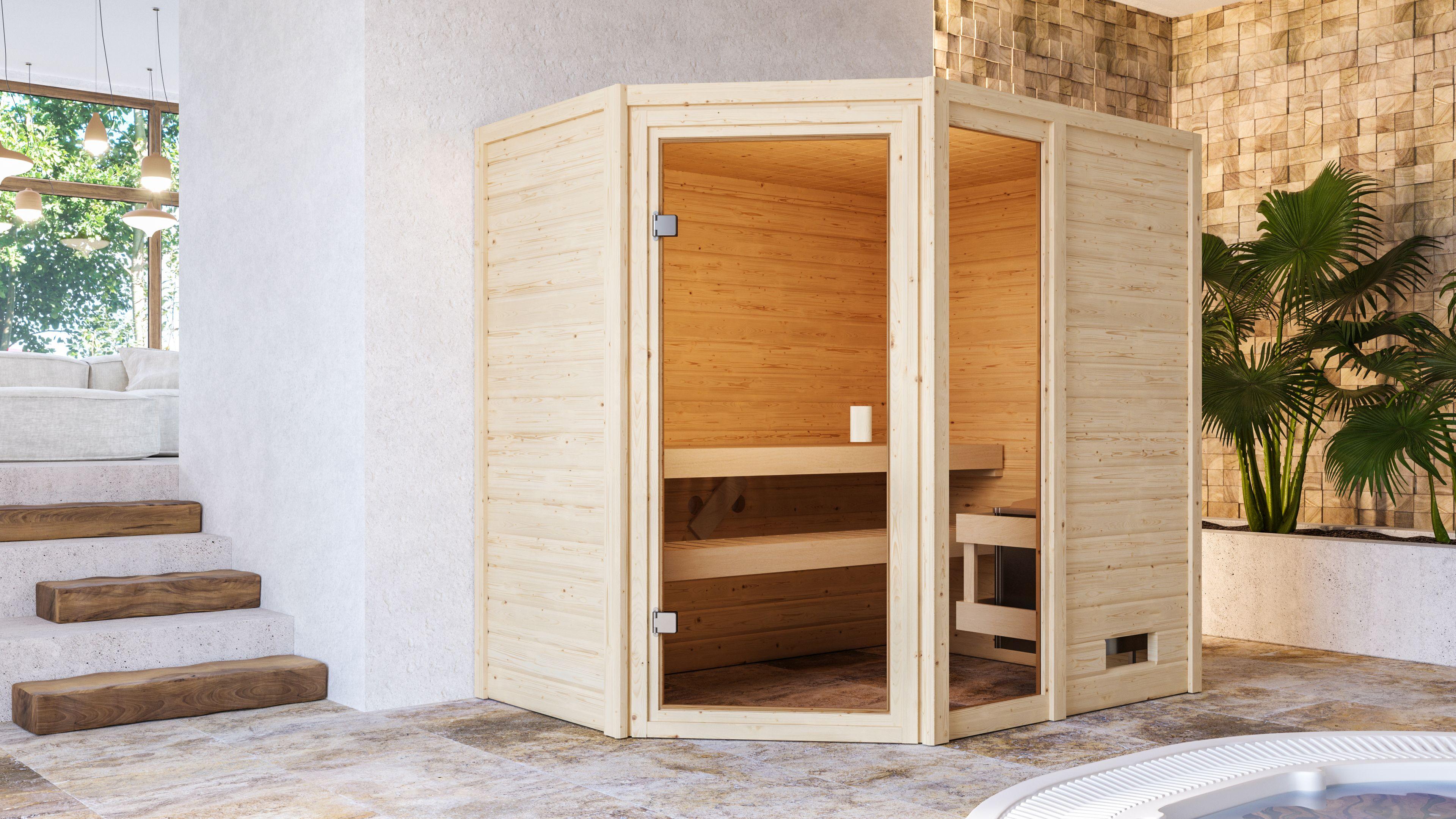 Woodfeeling Sauna Jada 38mm Saunaofen 9 kW intern Bild 10