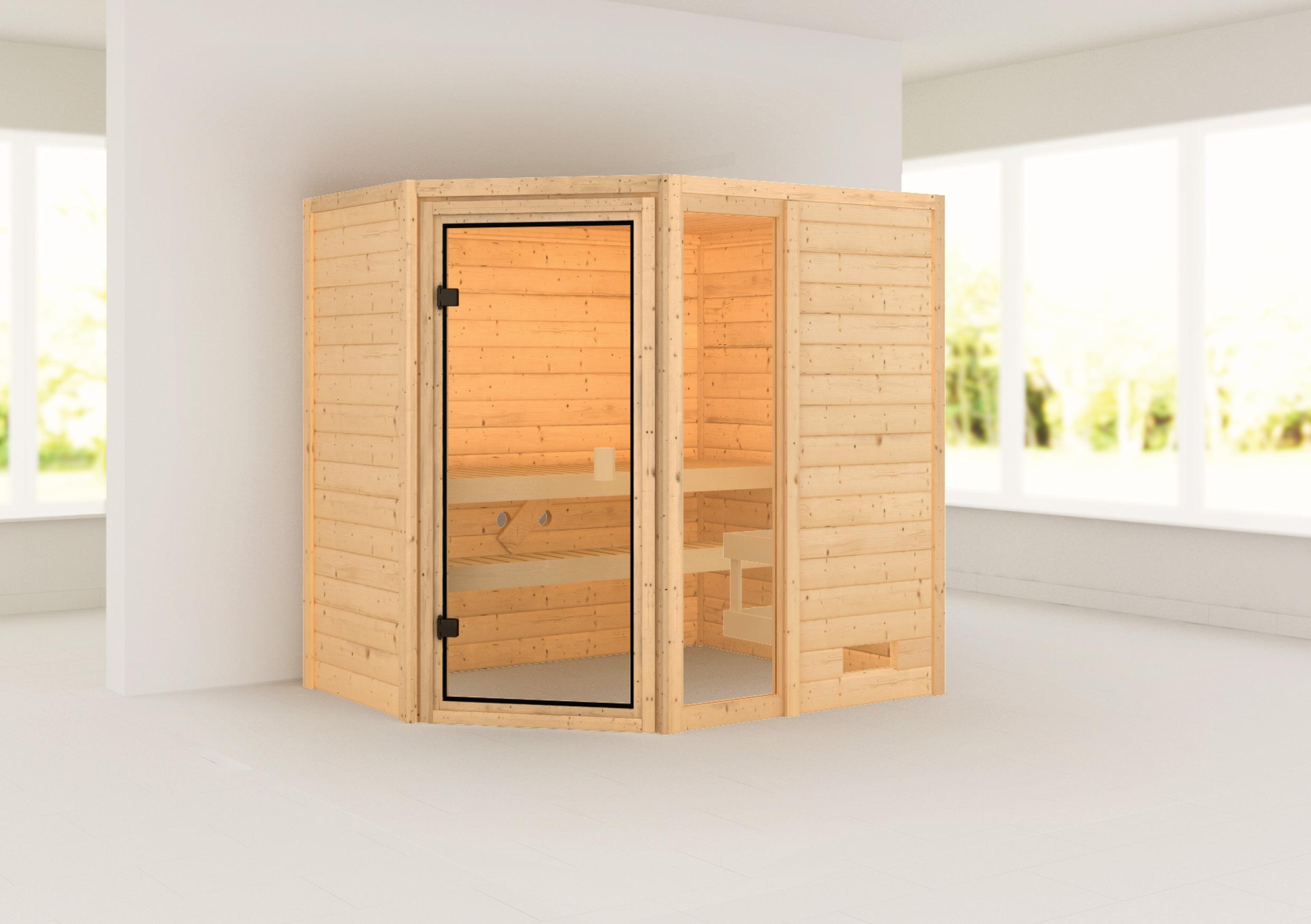 Woodfeeling Sauna Jada 38mm ohne Saunaofen Bild 1