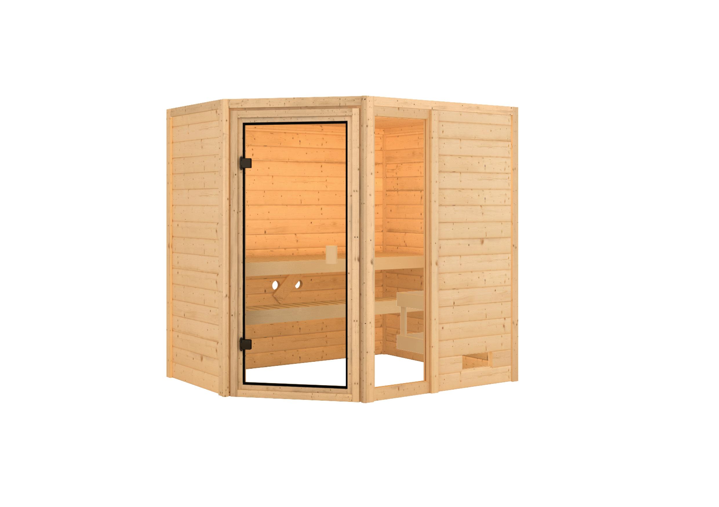 Woodfeeling Sauna Jada 38mm ohne Saunaofen Bild 7