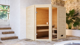 Woodfeeling Sauna Jada 38mm ohne Saunaofen Bild 4