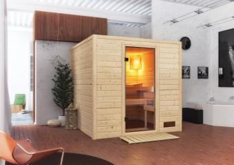 Woodfeeling Sauna Jara 38mm ohne Saunaofen Bild 3