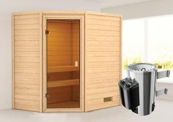 Woodfeeling Sauna Jella 38mm 230V Saunaofen 3,6 kW intern Bild 1
