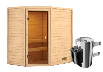 Woodfeeling Sauna Jella 38mm 230V Saunaofen 3,6 kW intern Bild 10