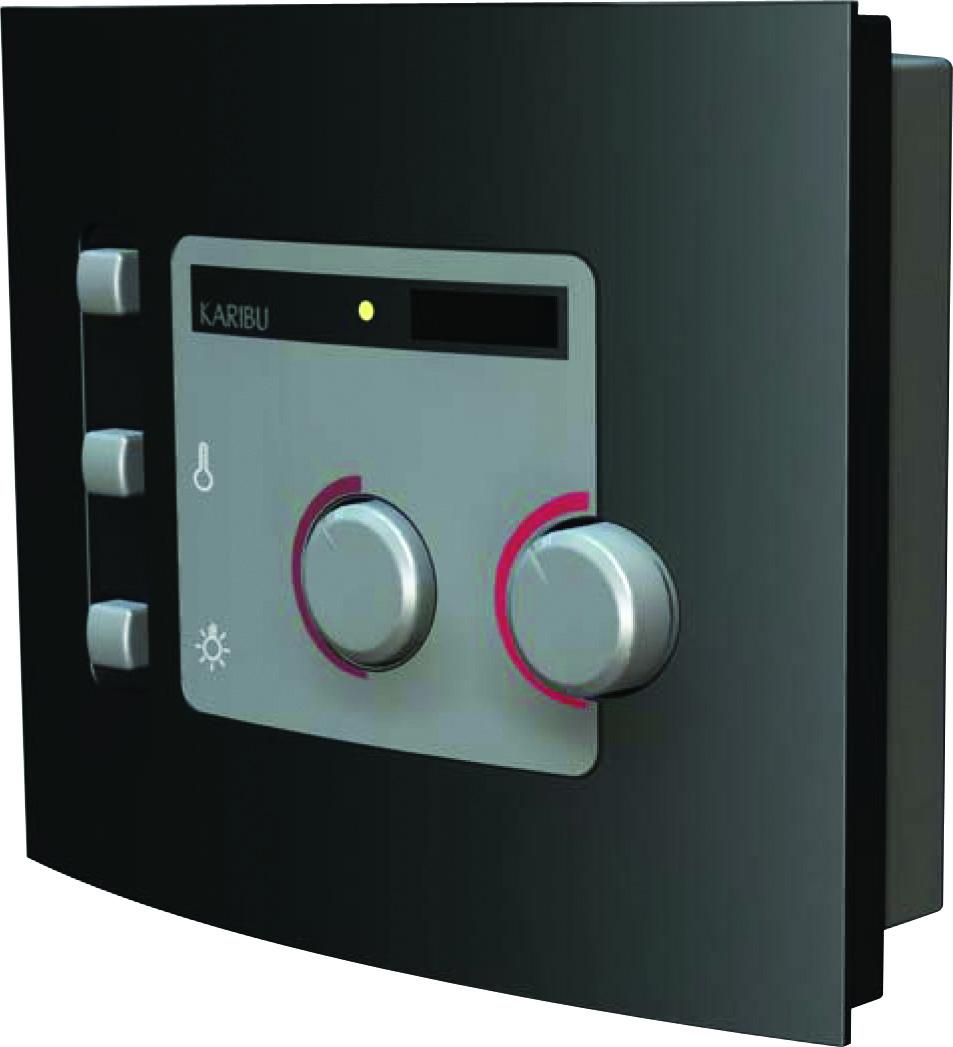 Woodfeeling Sauna Jella 38mm Dachkranz 230V Bio Saunaofen 3,6 kW exter Bild 3