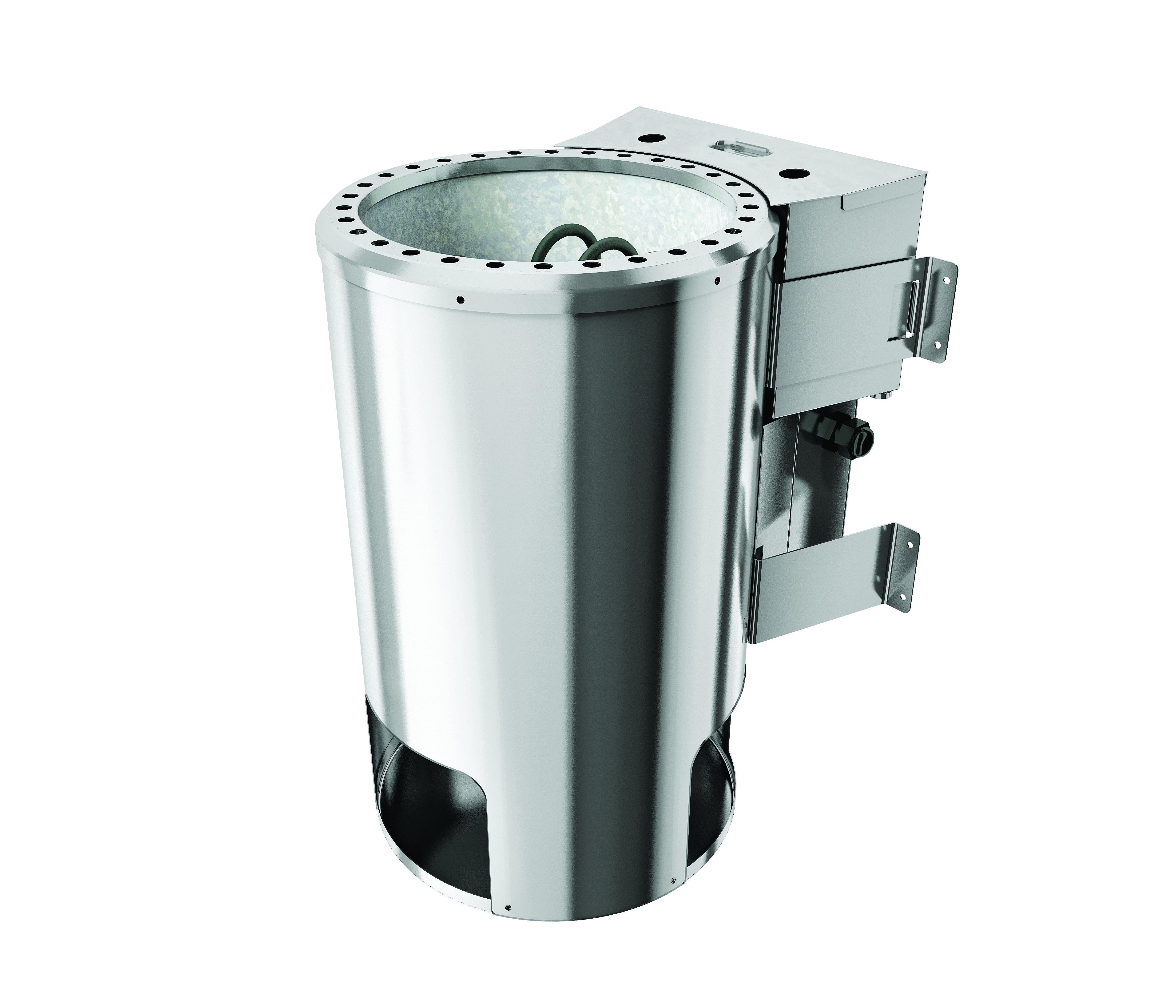 Woodfeeling Sauna Jella 38mm Dachkranz 230V Bio Saunaofen 3,6 kW exter Bild 4