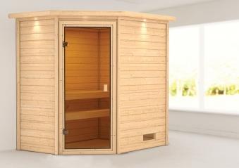 Woodfeeling Sauna Jella 38mm Dachkranz ohne Saunaofen Bild 1