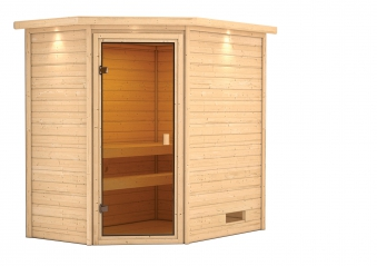 Woodfeeling Sauna Jella 38mm Dachkranz ohne Saunaofen Bild 5