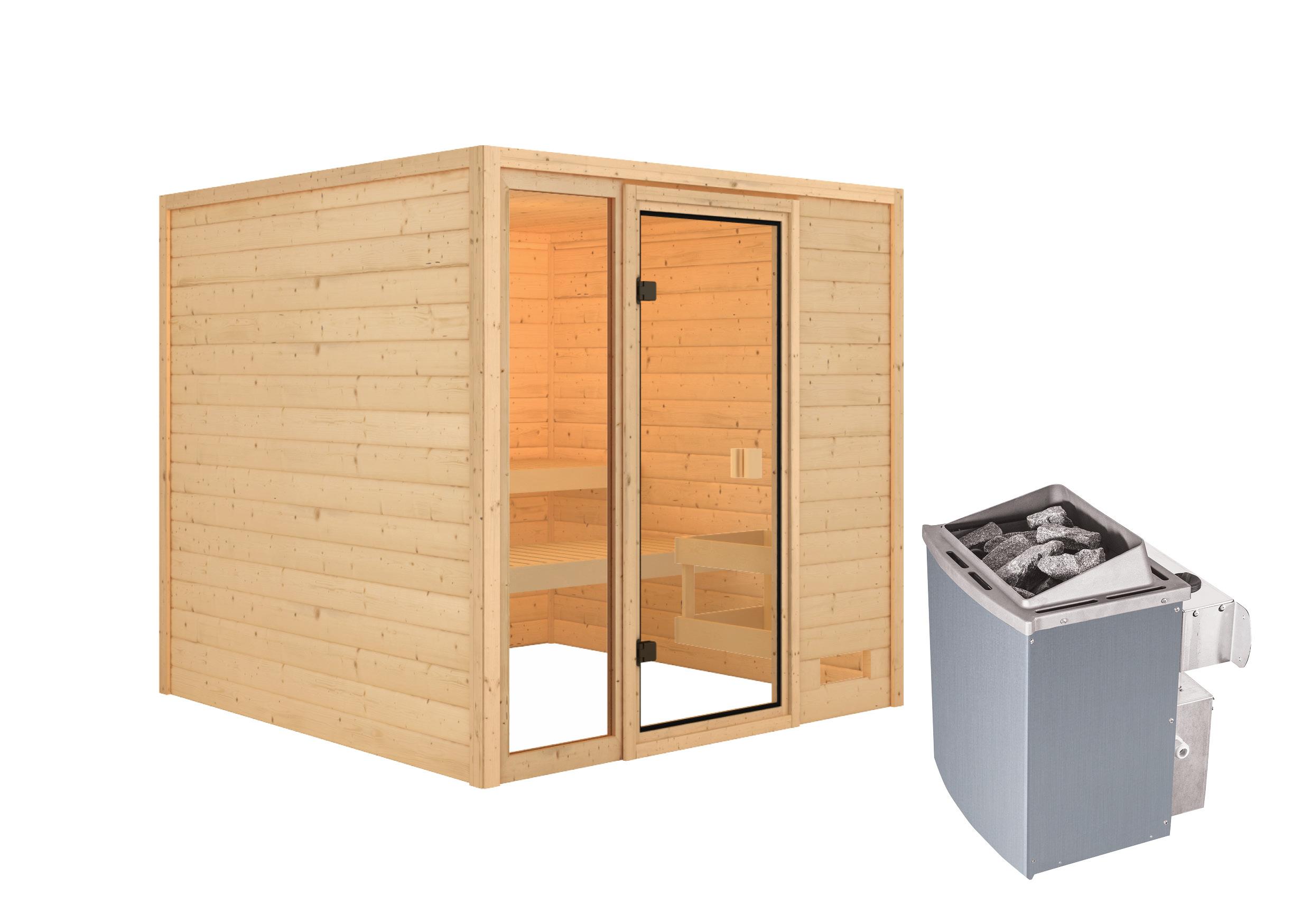 Woodfeeling Sauna Jutta 38mm Saunaofen 9 kW intern Bild 5