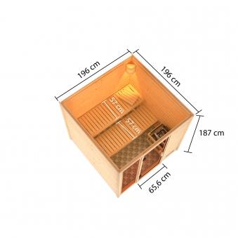 Woodfeeling Sauna Jutta 38mm Saunaofen 9 kW intern Bild 10