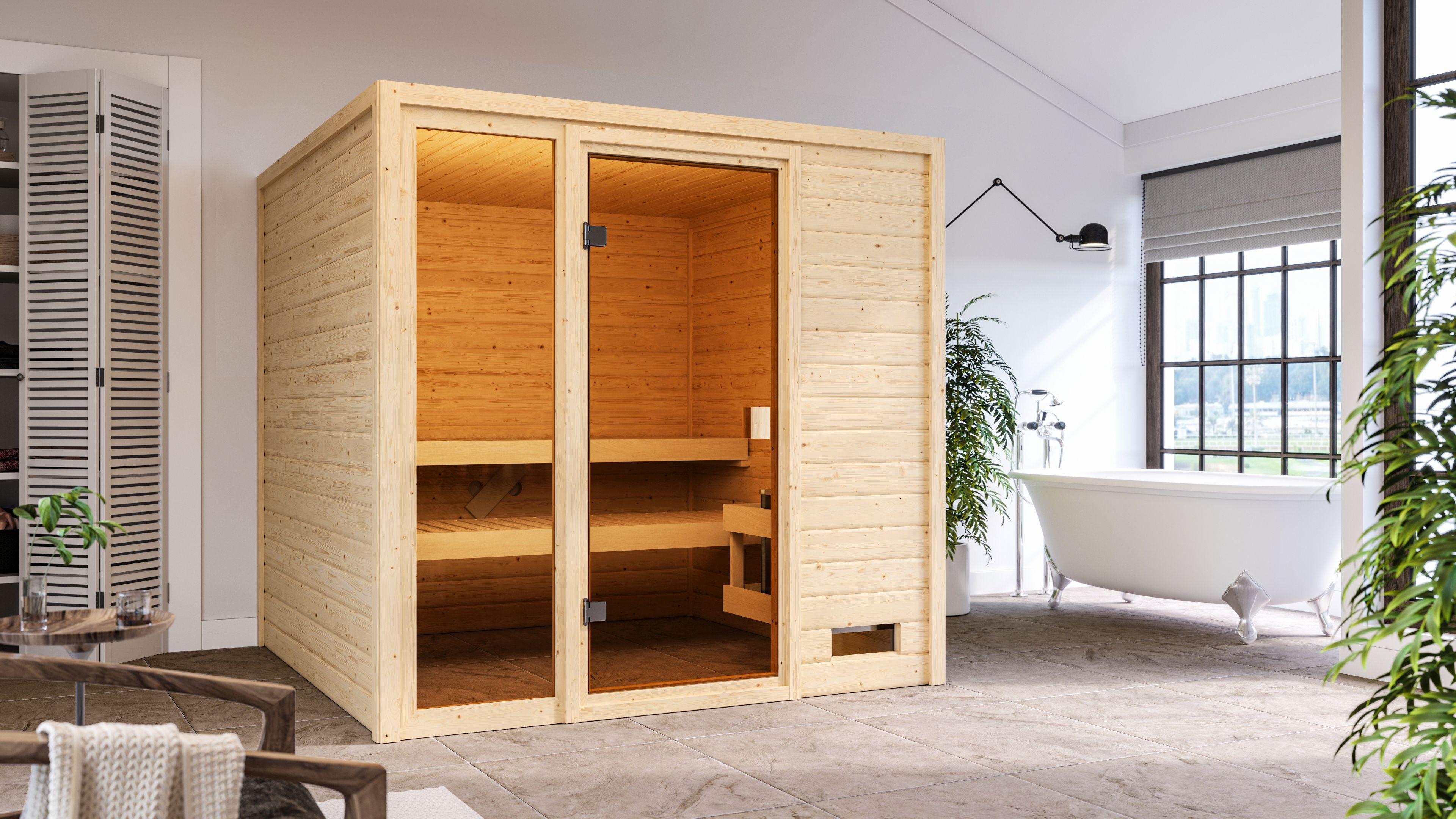 Woodfeeling Sauna Jutta 38mm ohne Saunaofen Bild 2