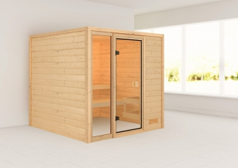 Woodfeeling Sauna Jutta 38mm ohne Saunaofen Bild 1