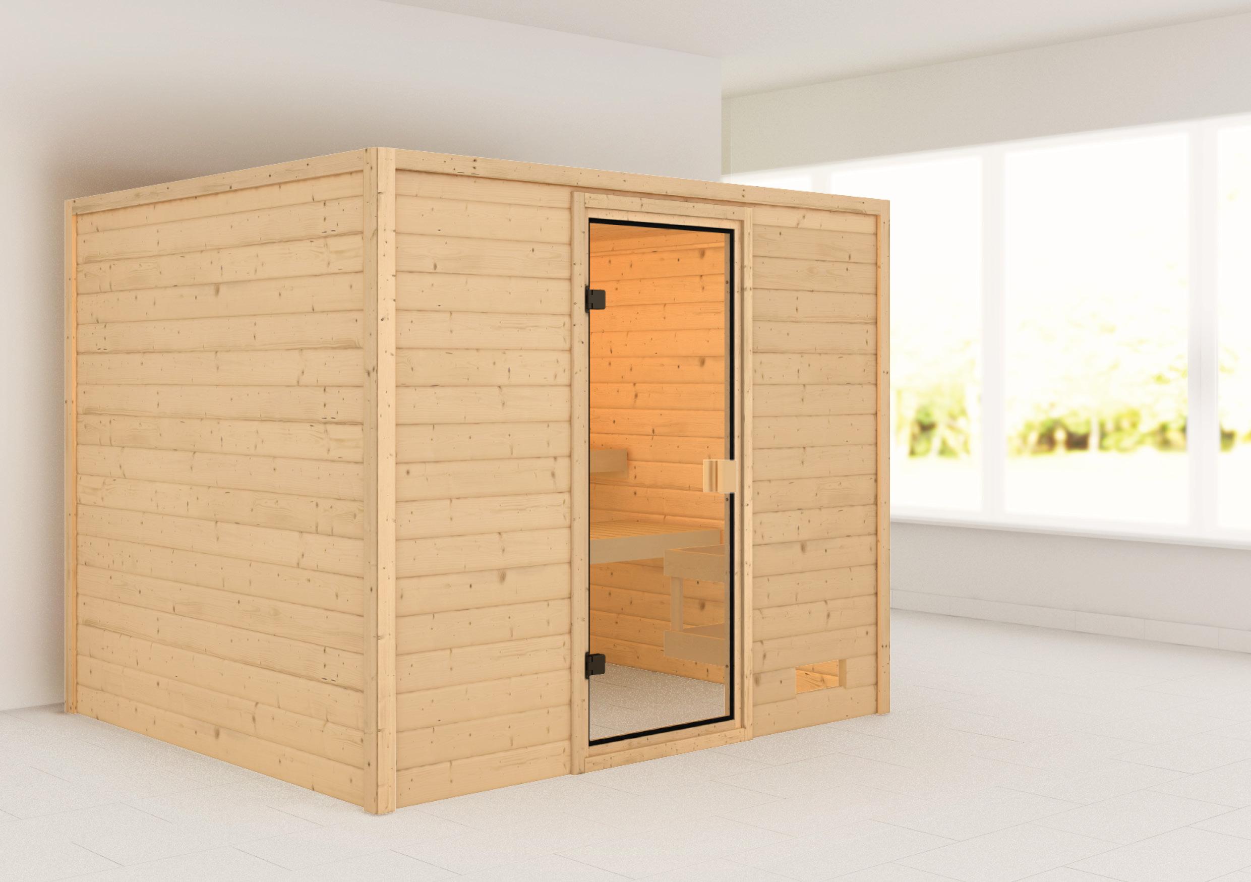 Woodfeeling Sauna Katja 38mm ohne Saunaofen Bild 1