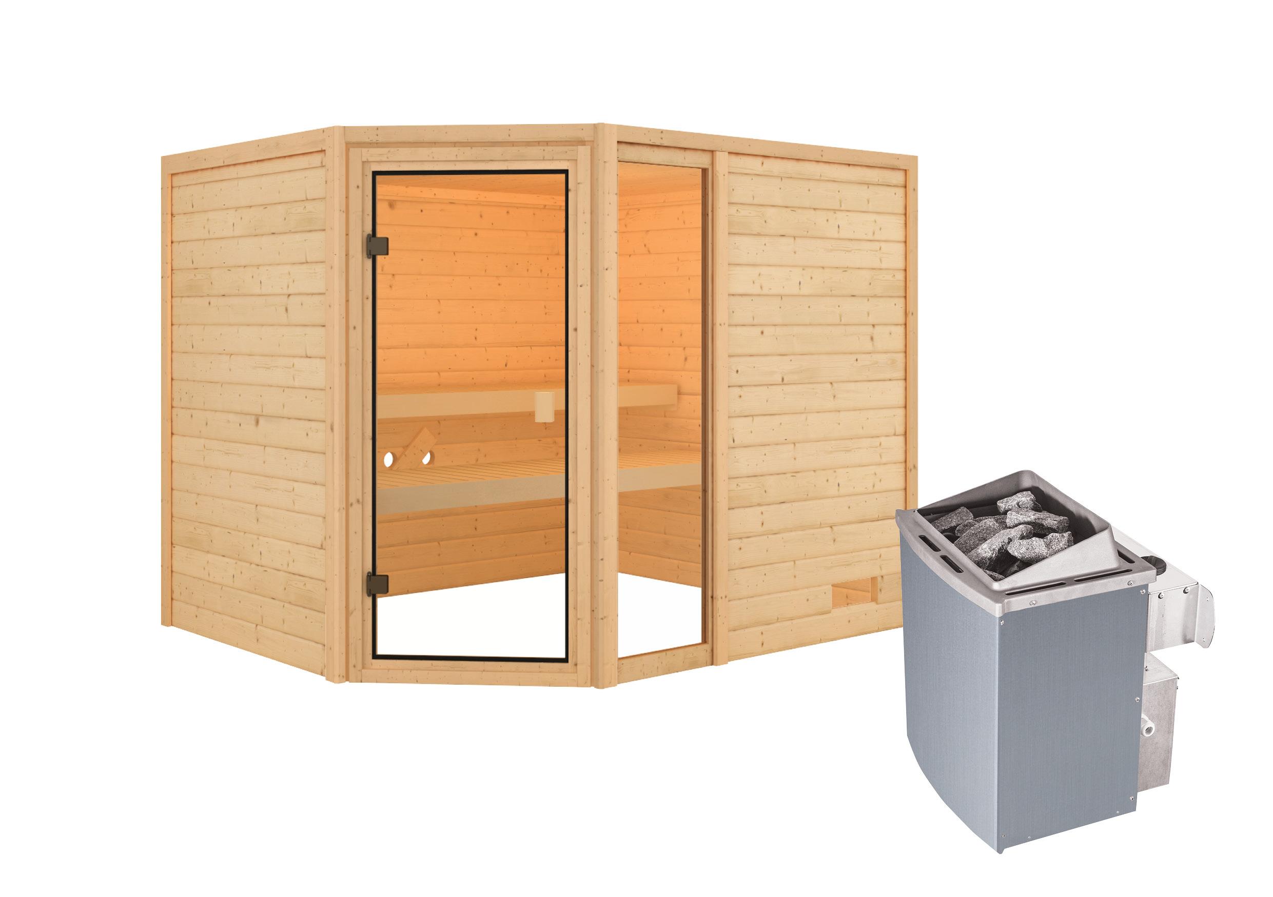 Woodfeeling Sauna Lola 38mm Saunaofen 9 kW intern Bild 2