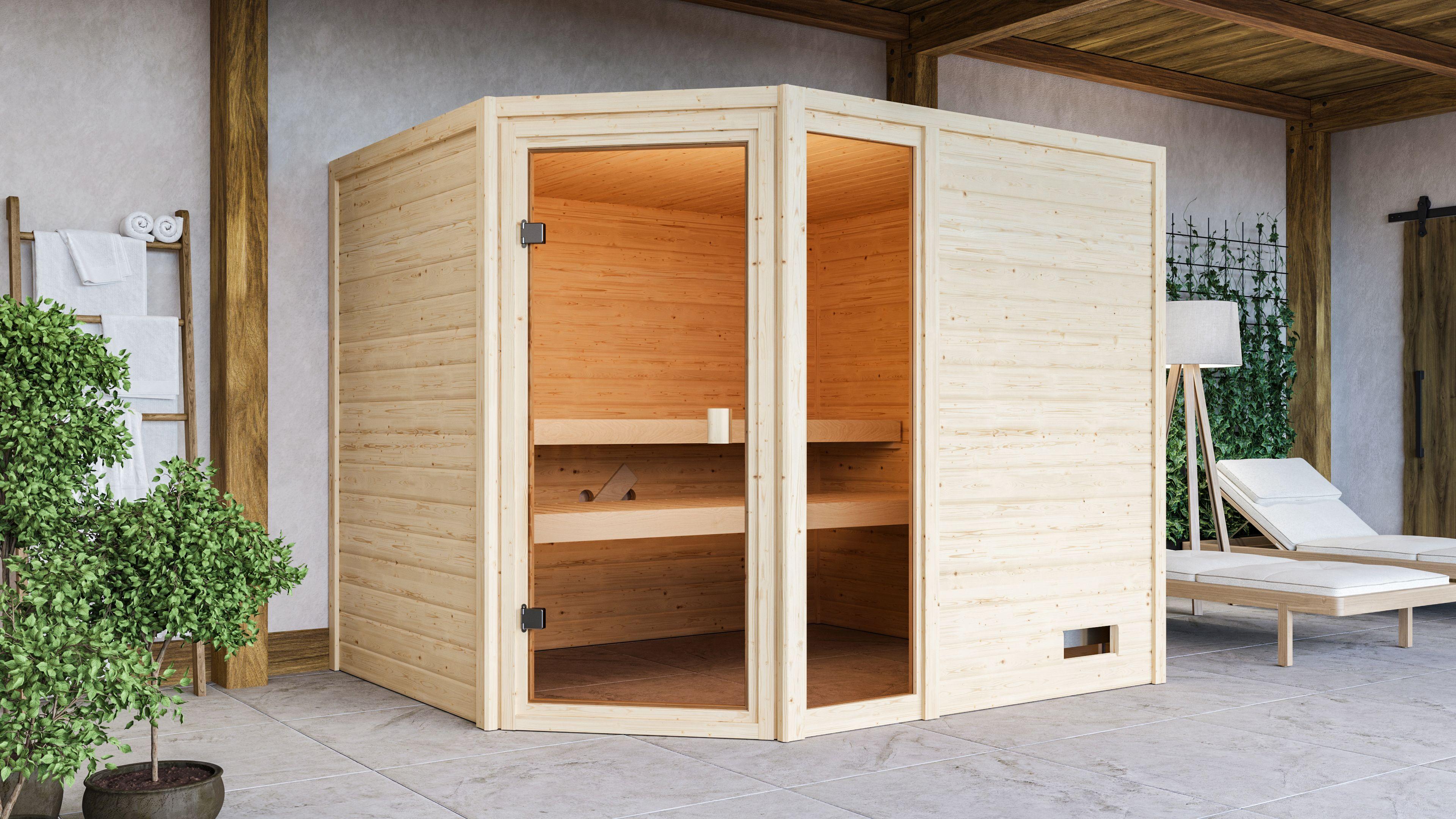 Woodfeeling Sauna Lola 38mm Saunaofen 9 kW intern Bild 5