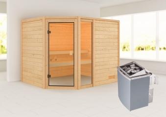 Woodfeeling Sauna Lola 38mm Saunaofen 9 kW intern Bild 1