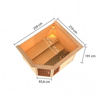 Woodfeeling Sauna Lola 38mm Saunaofen 9 kW intern Bild 8