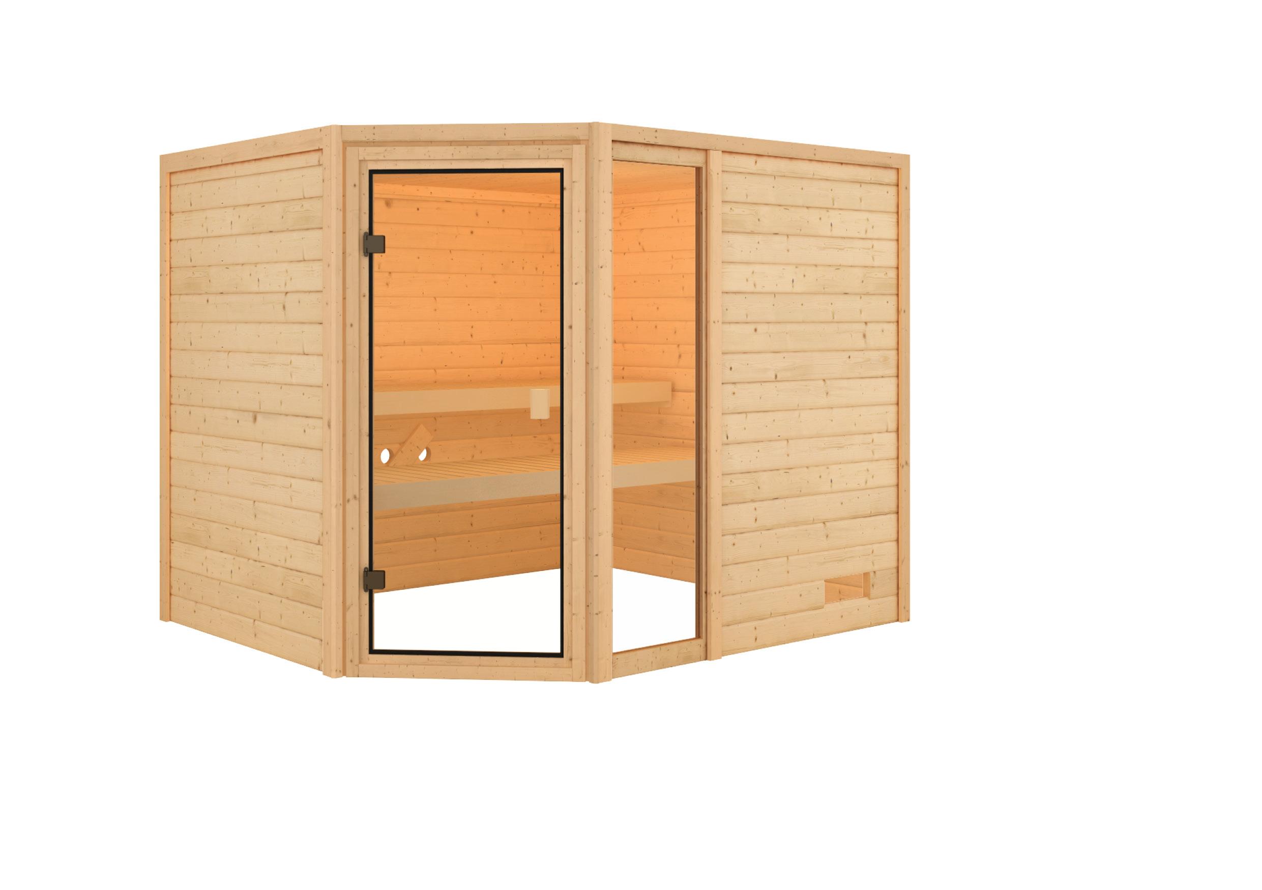 Woodfeeling Sauna Lola 38mm ohne Saunaofen Bild 3