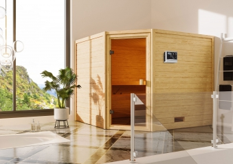 Woodfeeling Sauna Lotta 38mm Bio Saunaofen 9 kW extern Bild 3