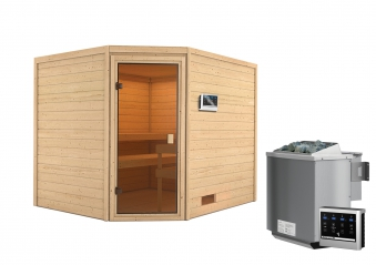 Woodfeeling Sauna Lotta 38mm Bio Saunaofen 9 kW extern Bild 5
