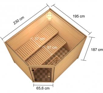 Woodfeeling Sauna Lotta 38mm Bio Saunaofen 9 kW extern Bild 8