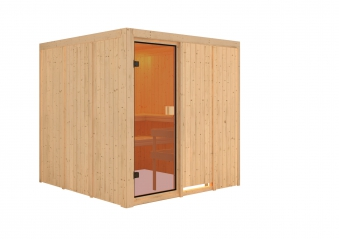 Woodfeeling Sauna Oulu 68mm ohne Saunaofen Bild 3