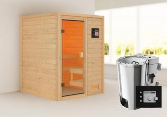 Woodfeeling Sauna Sandra 38mm 230V Bio Saunaofen 3,6kW extern Bild 1