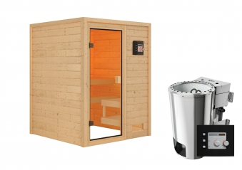 Woodfeeling Sauna Sandra 38mm 230V Bio Saunaofen 3,6kW extern Bild 9