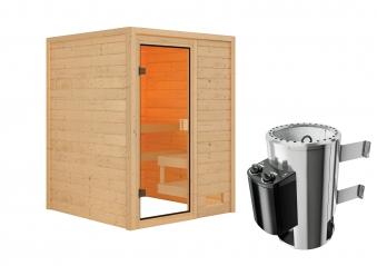 Woodfeeling Sauna Sandra 38mm 230V Saunaofen 3,6 kW intern Bild 7