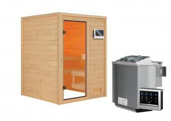Woodfeeling Sauna Sandra 38mm Bio Saunaofen 9 kW extern Bild 10