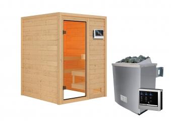 Woodfeeling Sauna Sandra 38mm Saunaofen 9 kW extern Bild 10