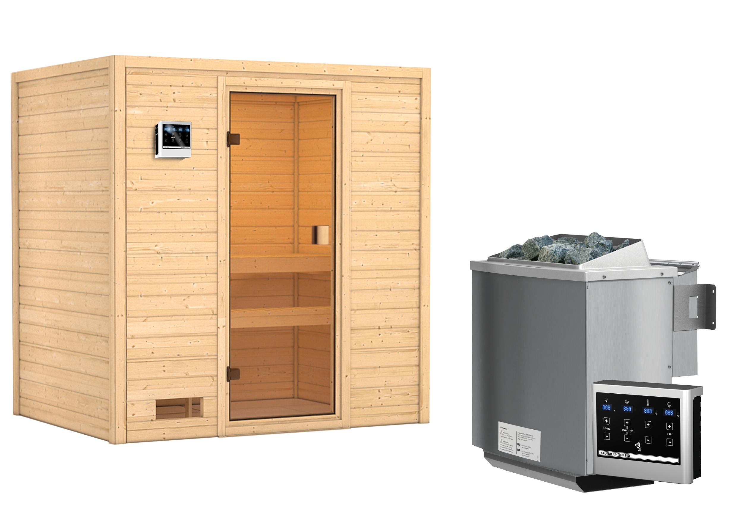 Woodfeeling Sauna Selena 38mm Bio Saunaofen 9 kW extern Bild 6