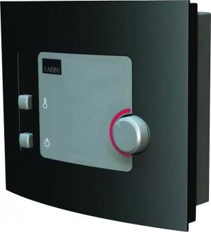 Woodfeeling Sauna Selena 38mm Dachkranz 230V Saunaofen 3,6 kW extern Bild 6