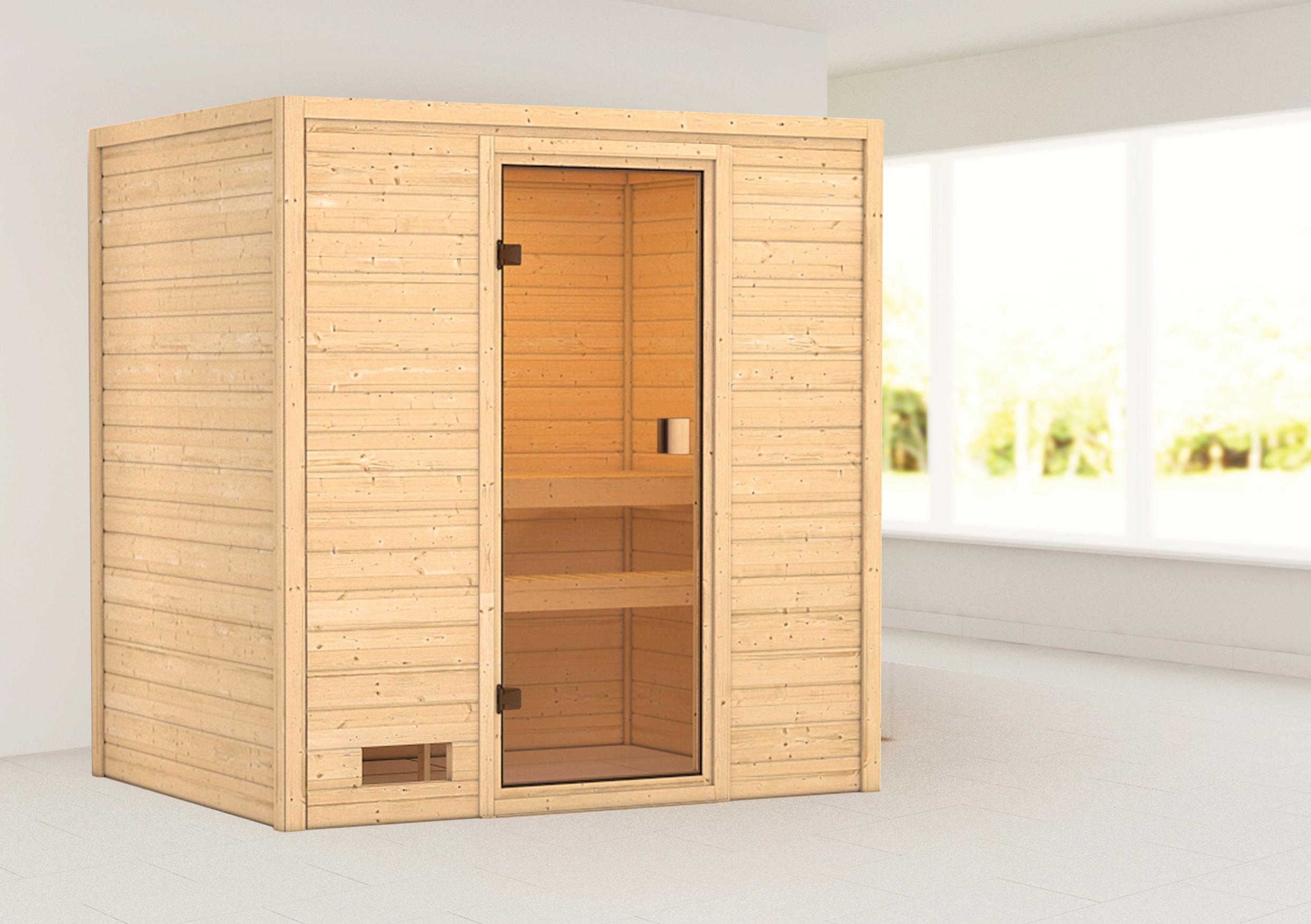 Woodfeeling Sauna Selena 38mm ohne Saunaofen Bild 1