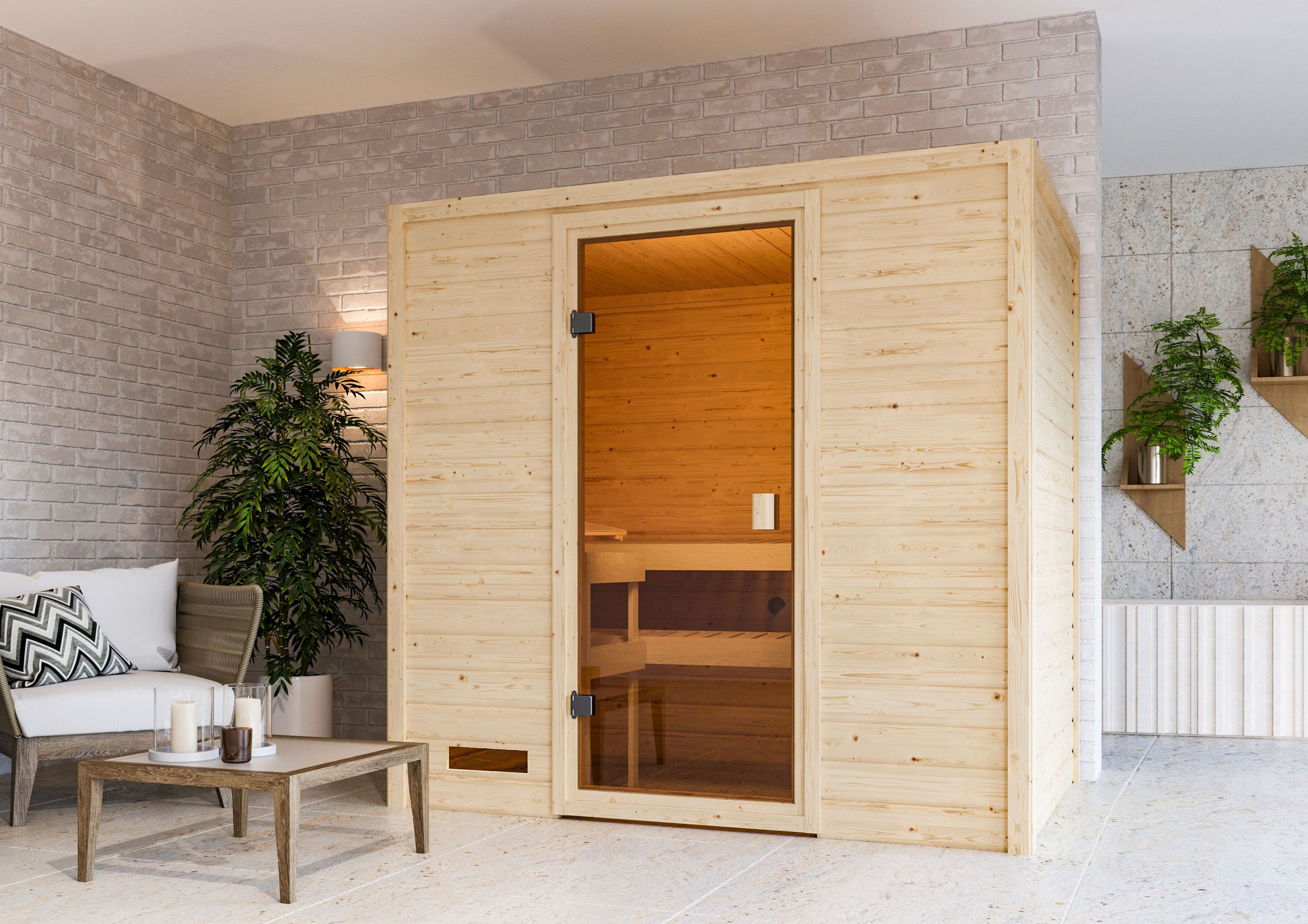 Woodfeeling Sauna Selena 38mm ohne Saunaofen Bild 9