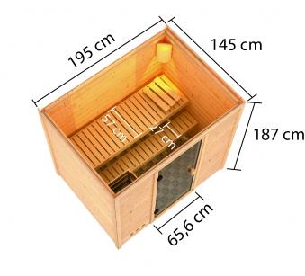 Woodfeeling Sauna Selena 38mm ohne Saunaofen Bild 4