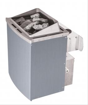 Woodfeeling Sauna Svenja 38mm mit Saunaofen 9 kW intern Classic Tür Bild 7