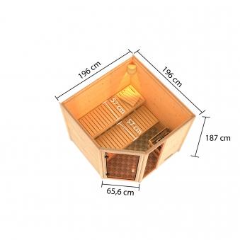 Woodfeeling Sauna Tabea 38mm Bio Saunaofen 9 kW extern Bild 11