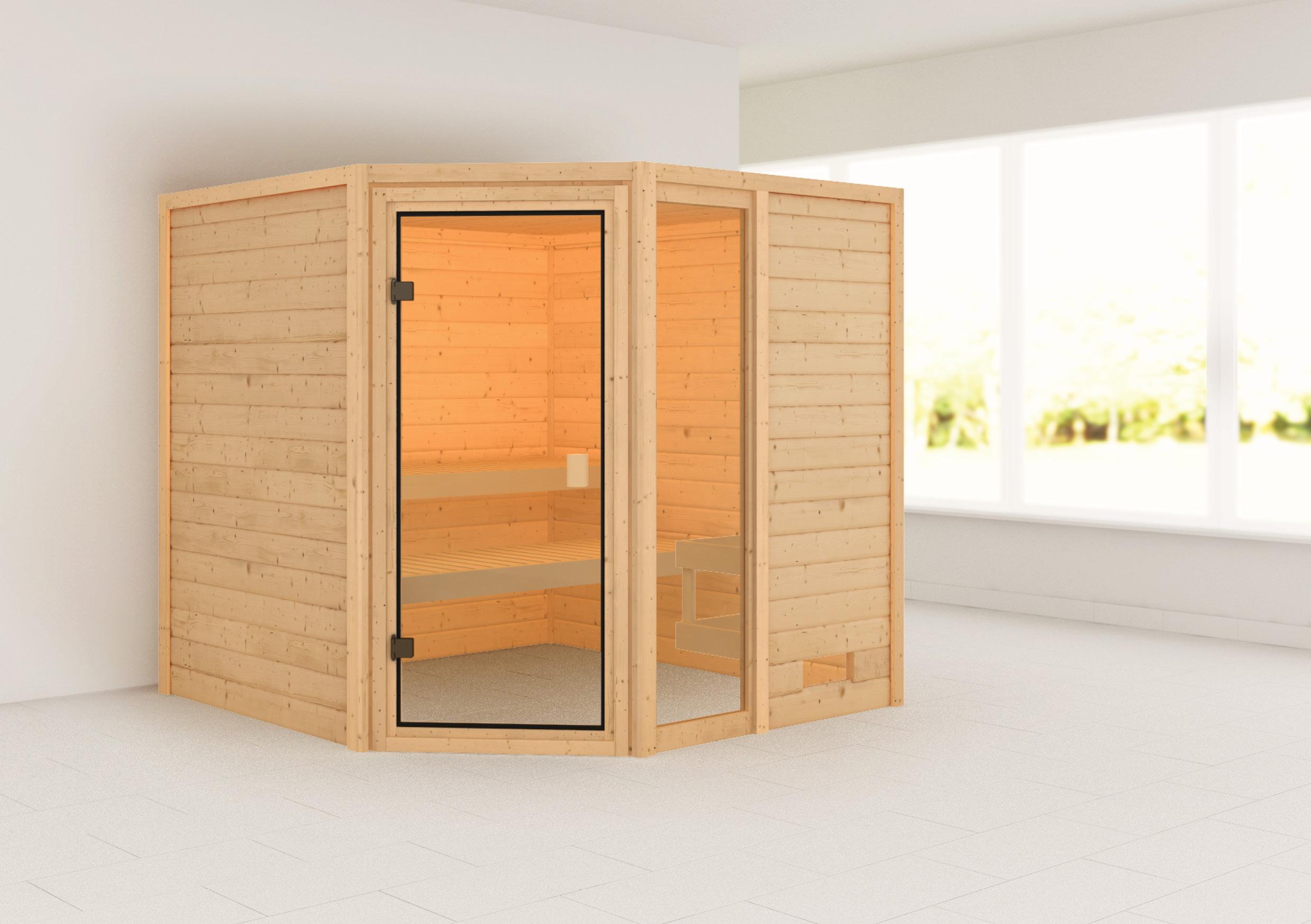 Woodfeeling Sauna Tabea 38mm ohne Saunaofen Bild 1