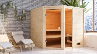 Woodfeeling Sauna Tabea 38mm ohne Saunaofen Bild 5