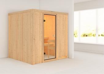 Woodfeeling Sauna Tromsö 68mm ohne Saunaofen Bild 1