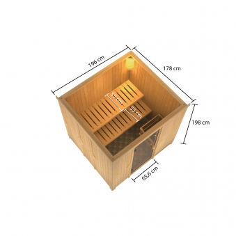 Woodfeeling Sauna Tromsö 68mm ohne Saunaofen Bild 3