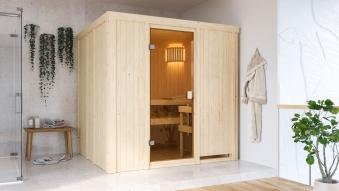 Woodfeeling Sauna Tromsö 68mm ohne Saunaofen Bild 7