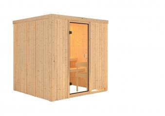 Woodfeeling Sauna Tromsö 68mm ohne Saunaofen Bild 8