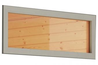 Fenster Klarglas für Karibu 38mm und 40mm Sauna weiß 42x122cm Bild 1