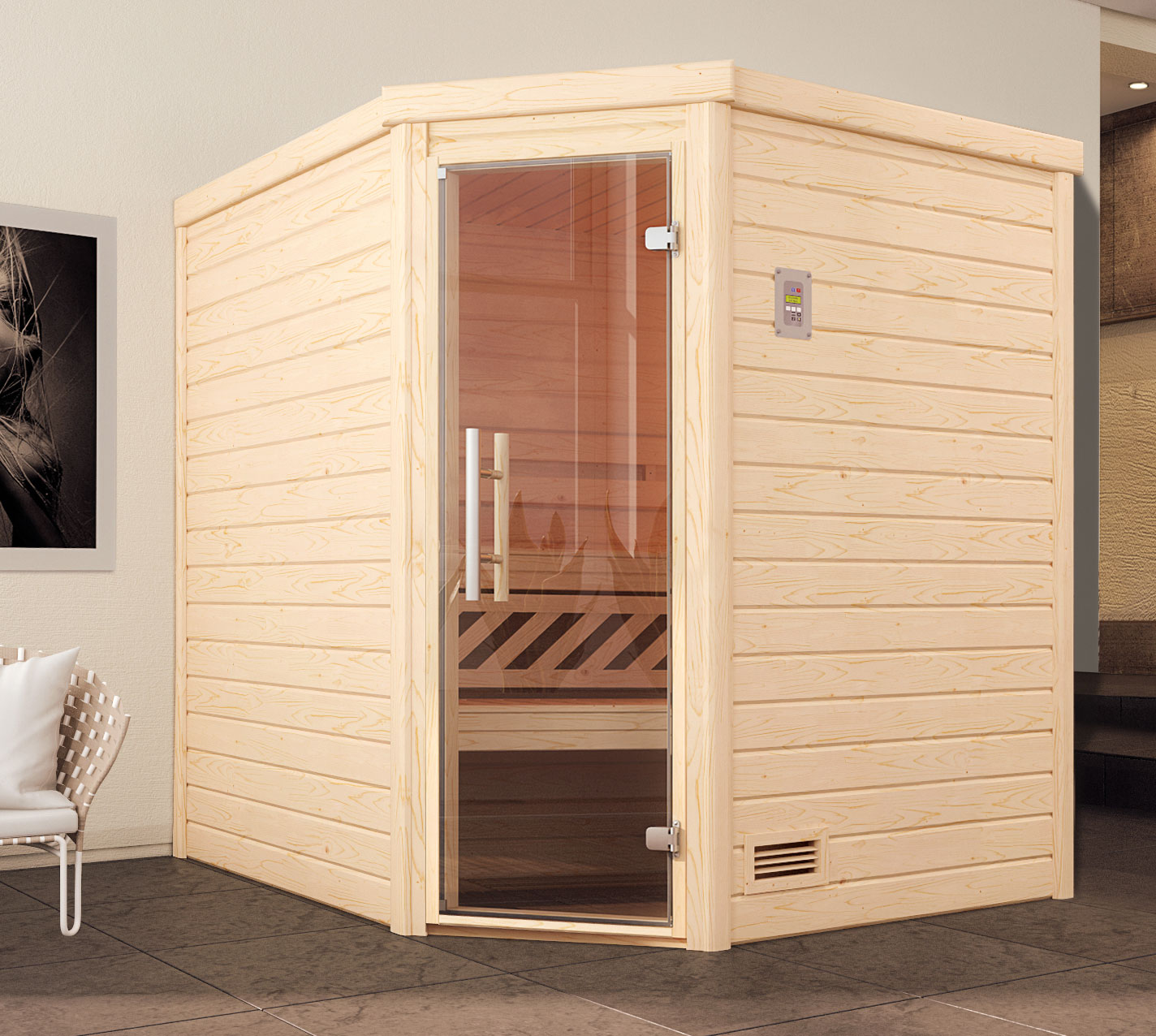 weka sauna 536 gt gr 1 massivholzsauna ohne saunaofen bei. Black Bedroom Furniture Sets. Home Design Ideas